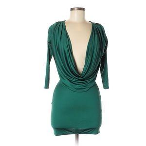 Mara Hoffman green cowl neck dress size XS